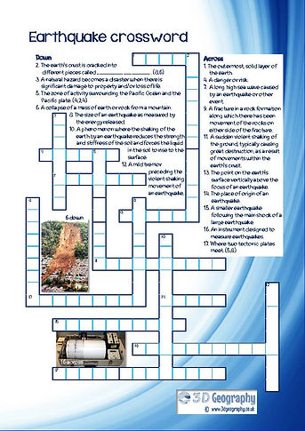 geography crossword | free gegoraphy worksheet