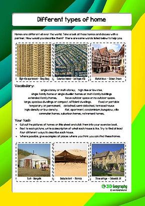 homes around the world worksheet
