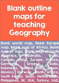 set of blank world maps