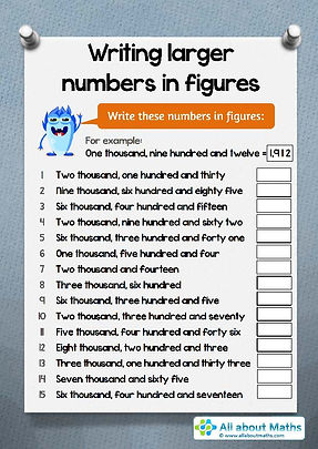 maths worksheets for year 4 | number worksheets