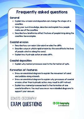 coastal geography | coasts worksheets | coast worksheet