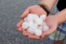 types of precipitation | hailstones