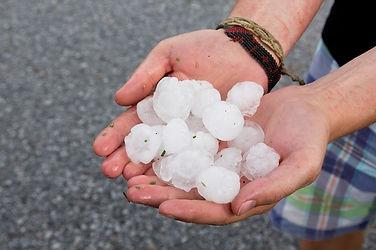 types of precipitation | hailstones