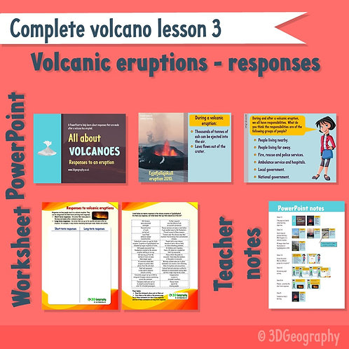 Complete volcano lesson 3 - Responses to eruptions