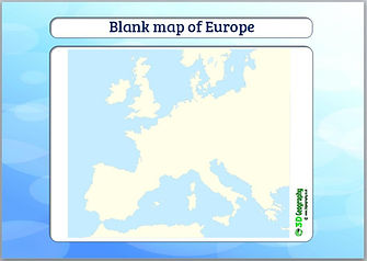 blank map of europe | outline map of europe | europe outline map | ks2 geography