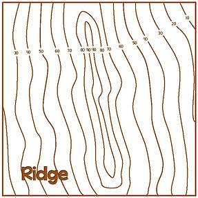 ridge contour line patterns