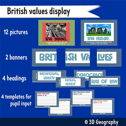 UK class display posters