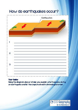 earthquake worksheet for kids