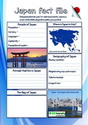 fact file on Japan's geography