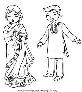 india colouring in couple