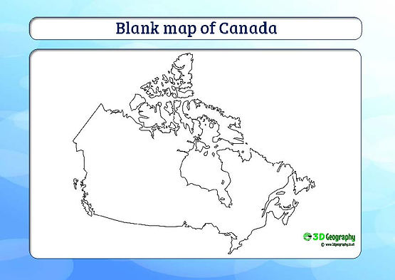 outline map of canada for kids