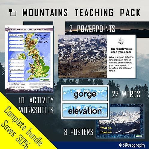 Mountains teaching pack
