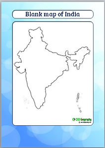 blank map of india | outline map of india | ks2 geography | geography lessons