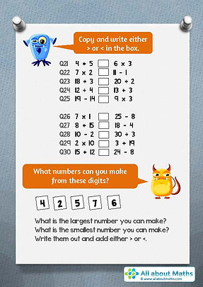 maths worksheet for year 4