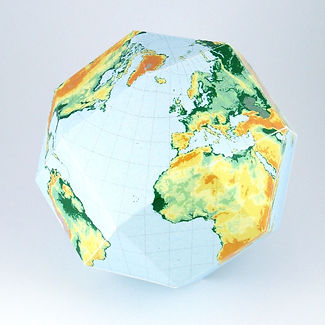 geography for kids | make a globe | 3D globe | paper template | geography model | geography activities