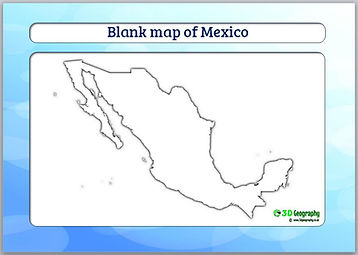 blank map of mexico | outline map of mexico | mexico blank map | ks1 geography