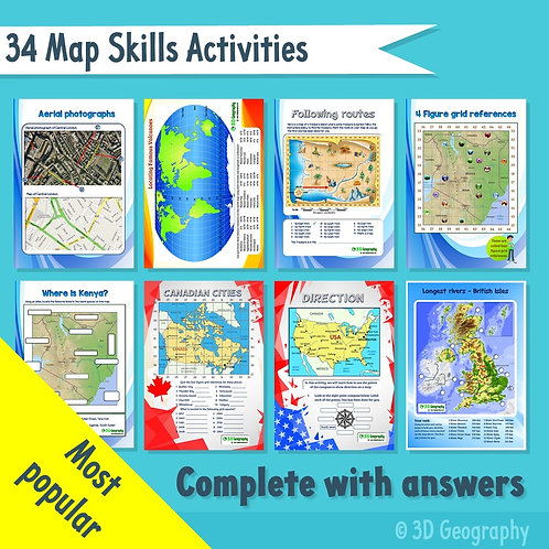 34 Map skills activities