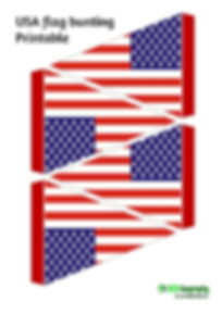 printable bunting - USA flag | free printables - USA flag