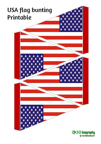 printable bunting - USA flag | free printables - USA flag