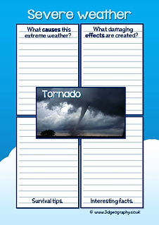 severe weather worksheets