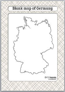 germany outline map | germany blank map | teaching geography