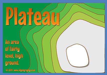 class display - 3D map - plateau