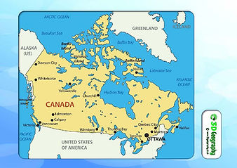 canada map for kids | canada map with major cities