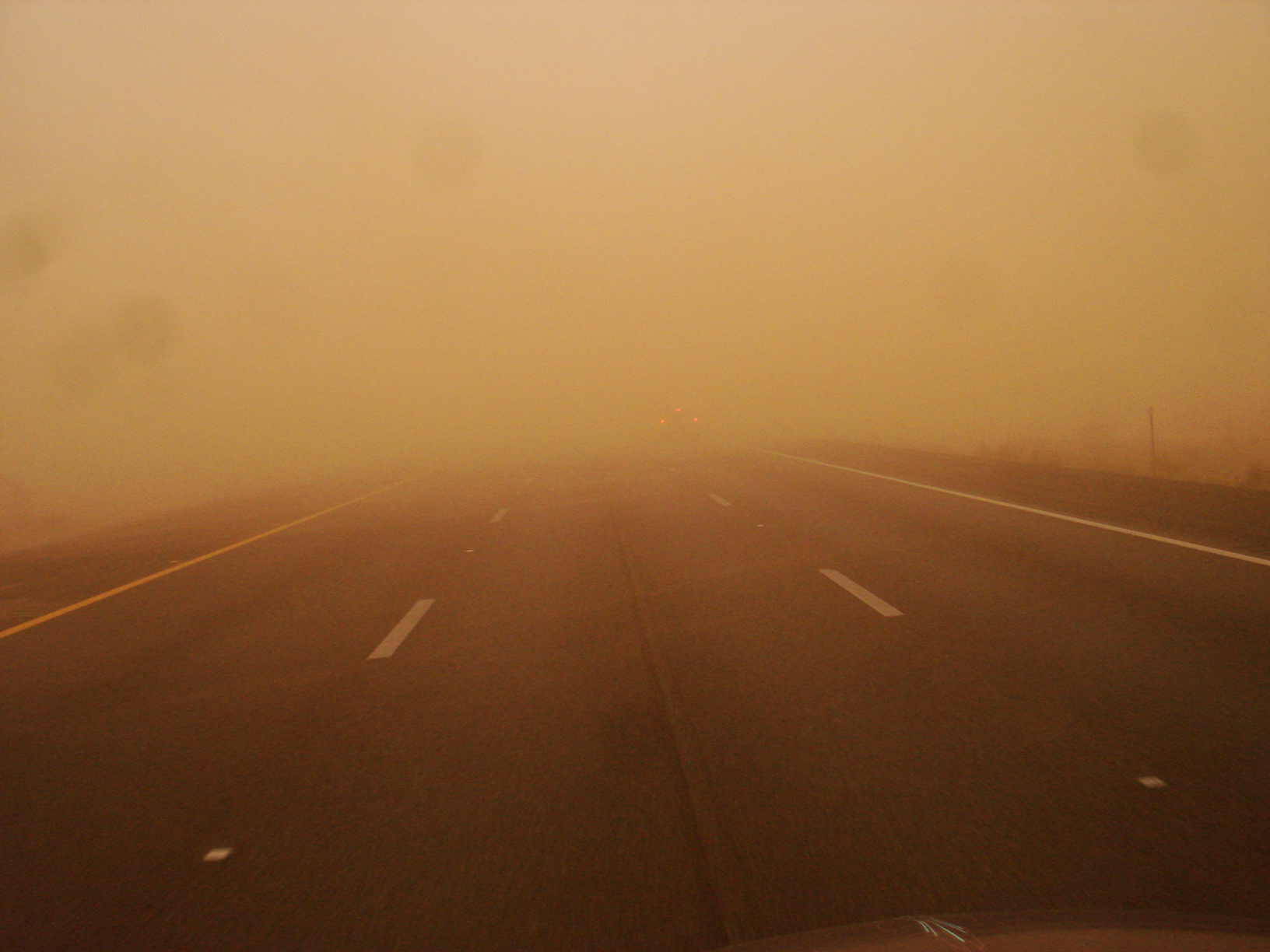 Dust storm - driving through one
