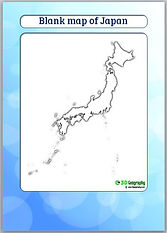 outline map of japan | blank map japan