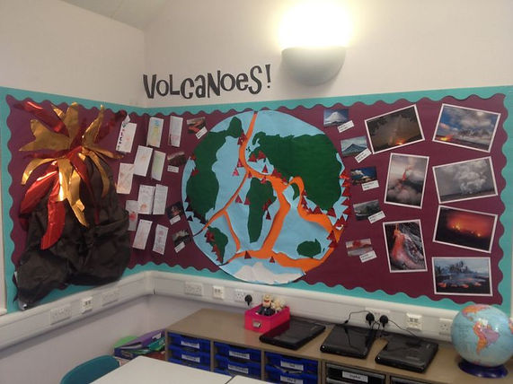 volcanoe classroom display ideas