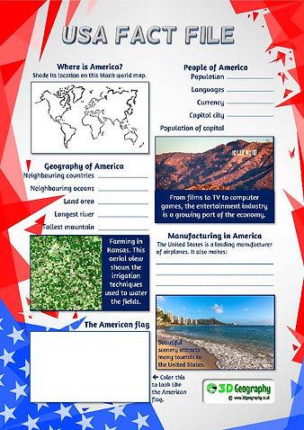 usa factfile | usa fact file | american fact file worksheet