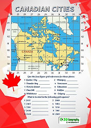 canada geography worksheet