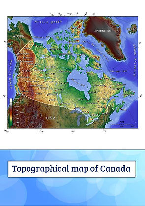 canada topo map | canada topographical map