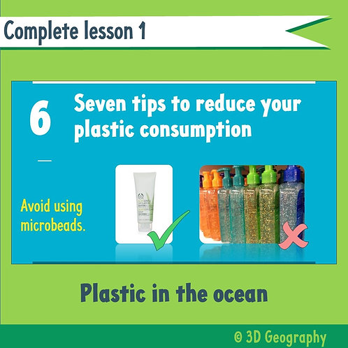 Plastic in the ocean (complete lesson)
