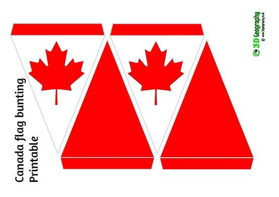 printable bunting - Canada flag | free printables - Canada flag