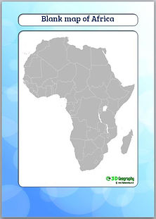 blank map of africa   outline map of africa