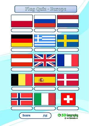 flag quiz | national flags quiz | flag worksheet