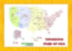 usa timezone map