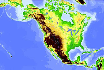 Geography map of north america | geography of america | american geography