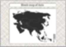asia blank map   asia outline map