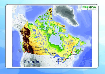 map of canada for kids | download map of canada