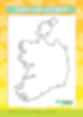 outline map of ireland | blank map of ireland