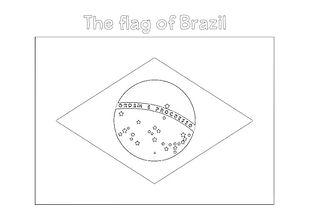 colour in flag of brazil