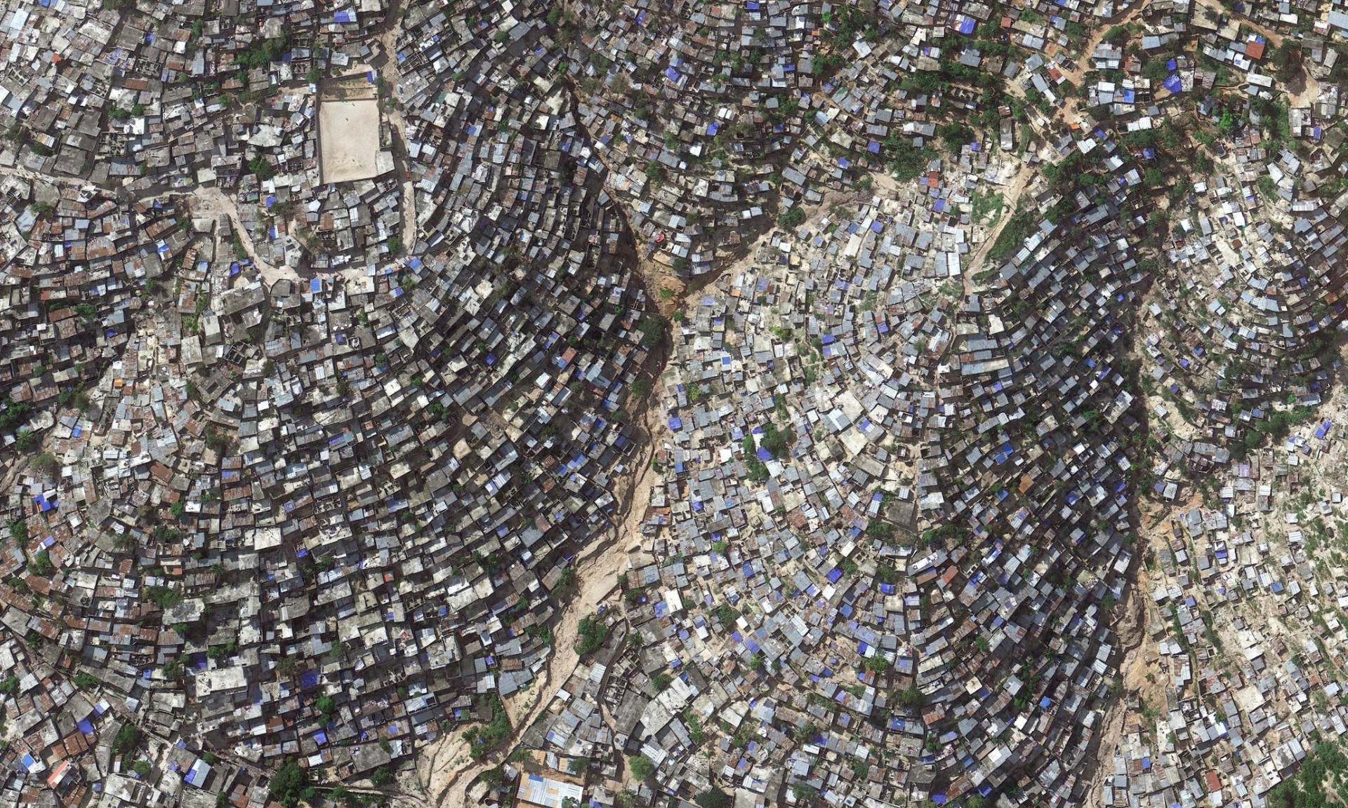 Hill side slum in Haiti
