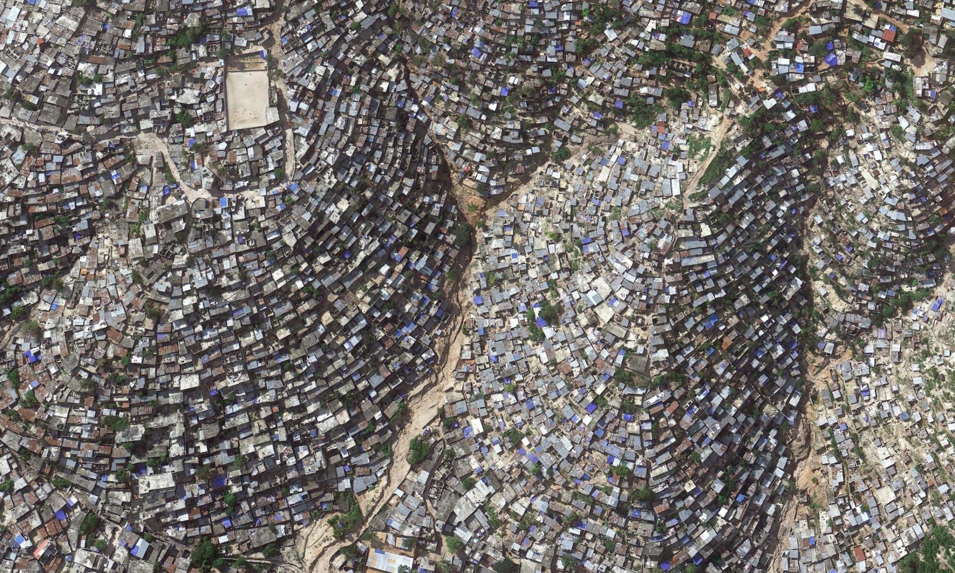 Hill side slum in Haiti