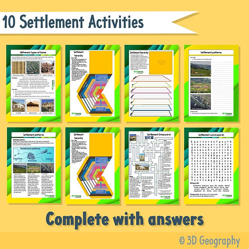 Settlement geography activities