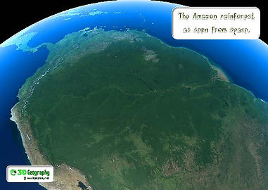 amazon rainforest seen from space