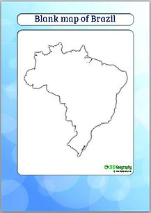 blank map of brazil | outline map of brazil | ks3 geography | teaching geography