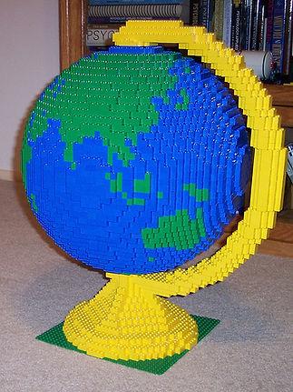 lego globe | make a globe | 3D globe | best geography model
