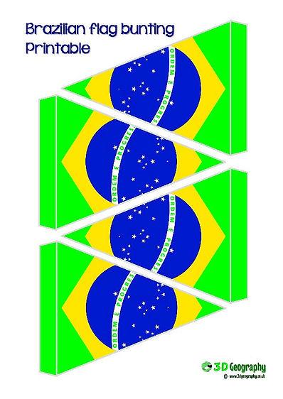printable bunting - brazil flag | free printables -  Brazil flag